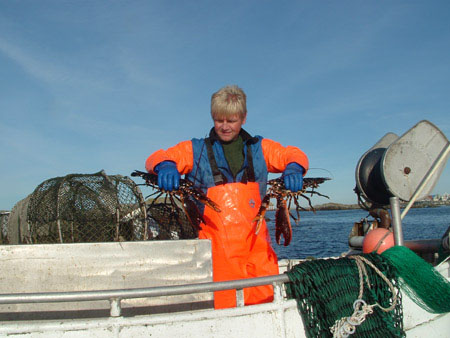 Norwegian fisherman fishing lobster. Photo: fiskeri.no
