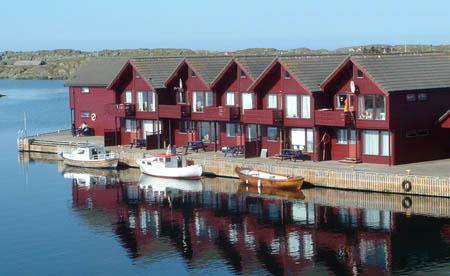 Rorbuer på Kvitsøy. Foto: fiskeri.no