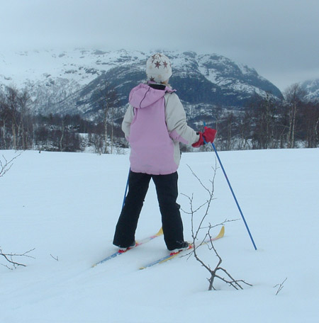 Skitur på fjellet. Foto privat
